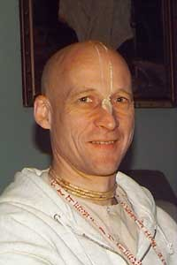 Aniruddha in Mayapur: Aniruddha at the GBC Meetings in Mayapur, 1999.