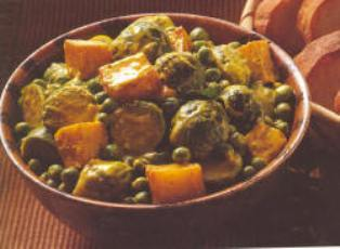 Brussel sprouts with potatoes & sour cream