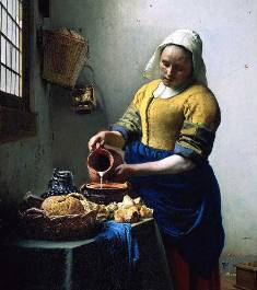 Jan Vermeer milk maid: