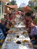 Wangaratta's longest vegetarian dinner table: