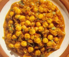 chickpea curry: