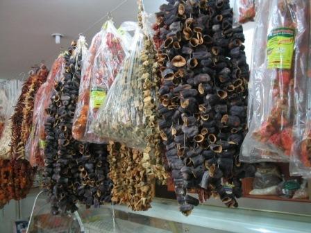 dried veg: