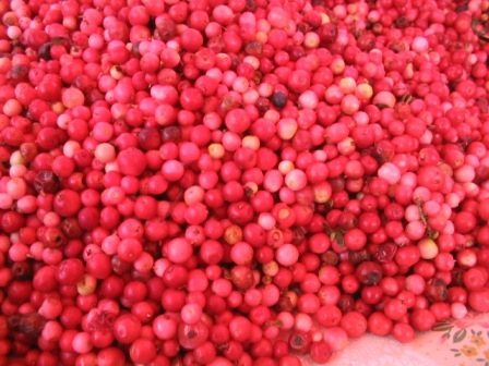 fresh cranberries: