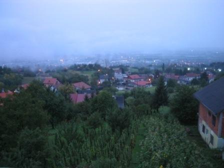 rain over Zagreb: