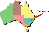 tamworth map: