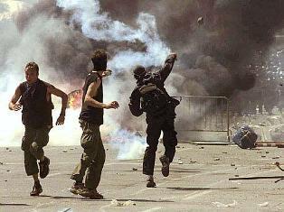 violent protest:
