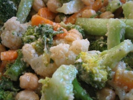 warm salad: