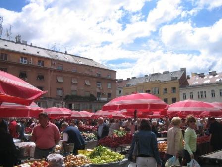 zagreb daily central market: